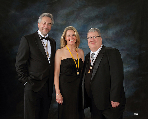 Muffet with Dennis Hammon and PPA president Tim Walden at the PPA Award's Ceremony